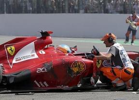 Así fue el espectacular accidente de Alonso en Bélgica