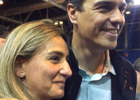Pedro Sánchez confía en que Milagros Tolón sea la primera alcaldesa de Toledo