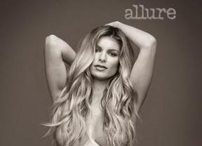 El ángel de Victoria's Secret Marisa Miller muestra desnuda su embarazo en la revista 'Allure'