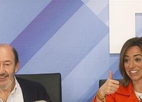Balance por la sucesión en el PSOE: Rubalcaba recaba 58 avales y Chacón 27