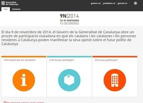 La web del 9-N sigue activa y en Convergència se hacen los 'suecos'