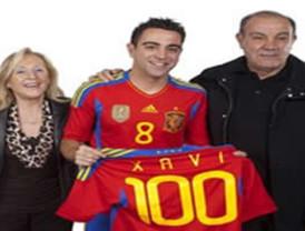 Xavi Hernández alcanza los 100 juegos con Selección de España