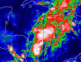 Richard se degrada a depresión tropical sobre Campeche