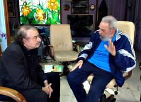 Fidel se regala por Navidades una aparición pública con el periodista Ignacio Ramonet