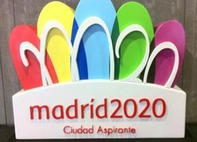 La Puerta de Alcalá, inspiradora del logo, se abre para que entren por ella los Juegos Olímpicos de 2020