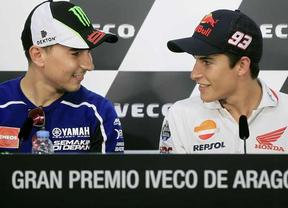 La titánica lucha de Márquez y Lorenzo por el título mundial se cita en el Gran Premio de Aragón