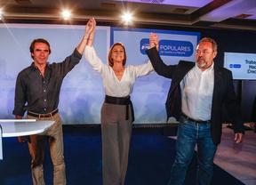Aznar y Cospedal en Toledo junto al candidato popular en la ciudad