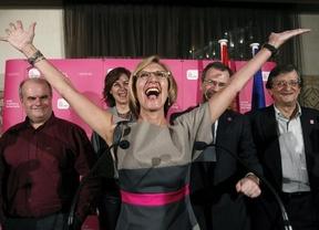 Rosa Díez celebra su grupo en el Congreso: dice que es el principio del fin del bipartidismo