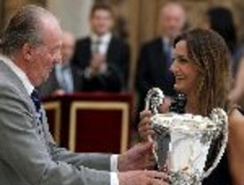 Luciana Aymar fue premiada por el Rey Juan Carlos