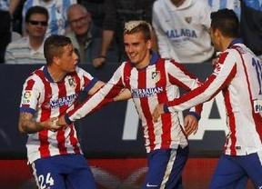 La pegada de Griezmann salva a duras penas al Atlético ante un Málaga mejor (2-2)