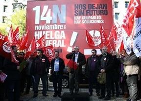 Toxo y Méndez, de gira española toda la semana para 'vender' la huelga del 14-N