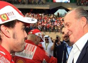 Don Juan Carlos le estropea un anuncio a Fernando Alonso