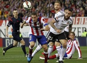 El Atlético de Madrid y el Valencia se anulan en el Calderón (1-1)