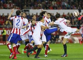 Sevilla y Atlético, mucho poderío físico y ninguno en fútbol y en goles (0-0)