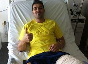 A Villa le toca ahora tirar de paciencia: le quedan 4 o 5 meses de baja tras ser operado de la tibia