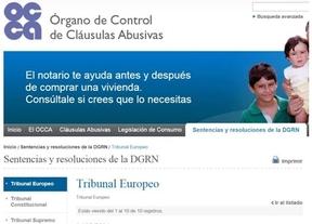 El Notariado abre una página web para el control de cláusulas abusivas