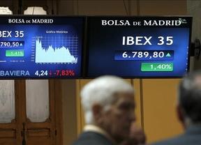 Al fin un respiro: la prima de riesgo baja de los 300 puntos e impulsa el Ibex un 3,26%