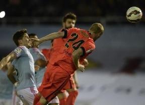 El Barça sabe sufrir y ganar en Vigo con otro gol de Mathieu para mantener al Madrid alejado a cuatro puntos (0-1)