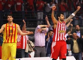 Euroliga: el Barça, al borde del KO ante Olympiacos (1-2) y el Madrid no apuntilla al Efes (2-1)