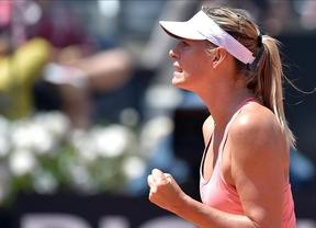 Sharapova reina en Roma a costa de Carla Suárez