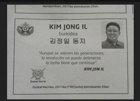 Gara publica una esquela de Kim Jong II