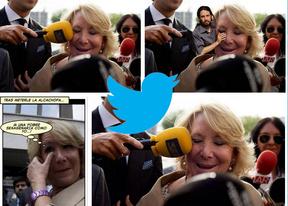 Twitter se ríe del 'microfonazo' a Esperanza Aguirre