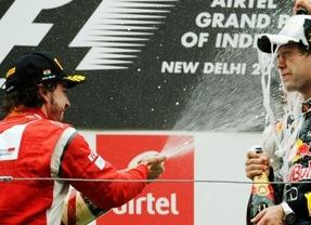 Continúa la mala racha en India: el Ferrari de Alonso sigue sin funcionar y el Red Bull de Vettel sí