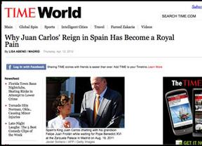La revista 'Time' arremete contra la monarquía: