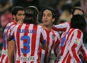 Raúl García certifica el pase del Atlético frente a un desahuciado Hapoel (1-0)