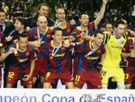 FC Barcelona Alusport, campeón de la Copa de España  tras derrotar (3-2) a ElPozo Murcia