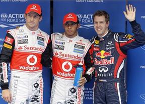Hamilton rompe la racha de Red Bull y se queda con la 'pole'