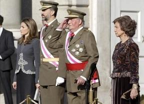 Visibles esfuerzos del Rey para pronunciar su discurso en la Pascua Militar