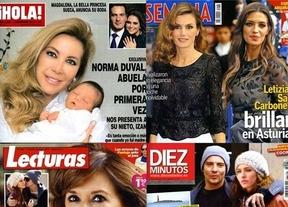 Letizias, Carboneros, Conchas y Normas reinan en las revistas del corazón de la semana