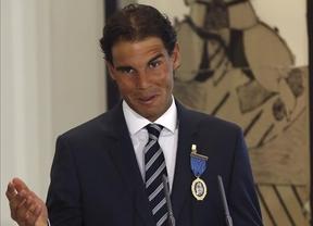 El tenista Rafa Nadal, galardonado con la Medalla de Oro al Mérito en el Trabajo
