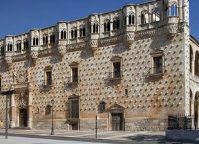 'Abrazo' al Palacio del Infantado de Guadalajara para pedir que su acceso sea gratuito