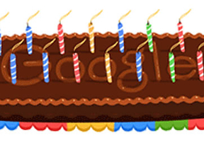 Google se regala un 'doodle' por su 14 cumpleaños