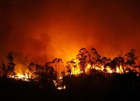 El incendio en Coruña está bajo control pero la quema sigue en aumento: ya va por 750 hectáreas