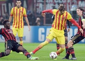 Champions: el Barça sigue sin saber ganar en Milán, donde juega mejor pero no apuntilla (1-1)