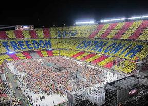 Lleno en el Camp Nou en el 'Concert per la Llibertat'