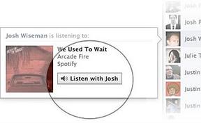 El chat de Facebook permite escuchar y compartir música