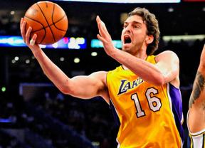 Gasol vuelve a dar la talla con 'sus' Lakers en la sufrida victoria ante los Oklahoma de Ibaka