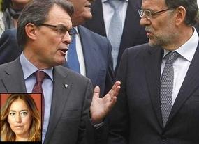 Rajoy aterriza en Barcelona con un 'mensaje de concordia' a los catalanes