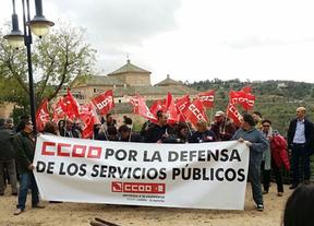 CCOO se concentró frente a las Cortes contra los presupuestos 2015