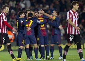 El Barça, con Messi de superestrella una vez más, se merienda a unos leones fláccidos (5-1)
