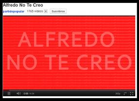 'Alfredo no te creo', la nueva banda sonora de la campaña electoral del PP