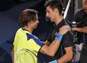 Ferrer no pudo repetir sorpresa en París, tras ganar a Nadal, y cayó en la final ante Djokovic