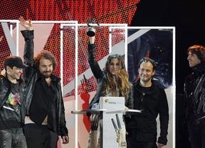 El 'corte' de Shakira, La Oreja de Van Gogh y Malú triunfan en los Premios 40 Principales