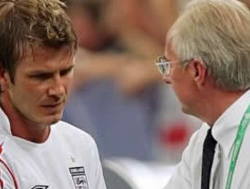 Eriksson quiere contratar a David Beckham para Leicester