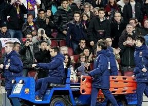 Muy cara victoria del Barça con gravísima lesión de Valdés, que dice adiós a la Liga y al Mundial (3-0)