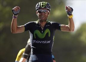 Vuelta Ciclista: el español Valverde gana en La Zubia y se sitúa líder